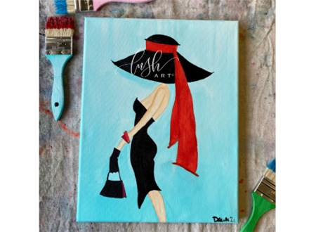 Lady in Hat Paint Class - WR