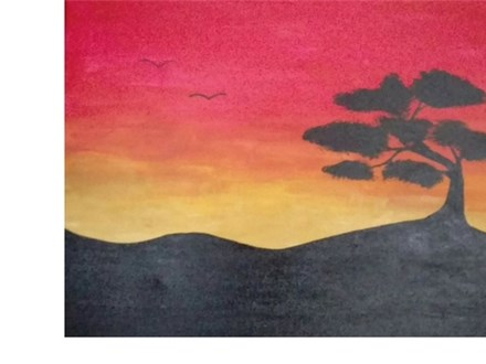 Bonsai Sunset - Paint & Sip - March 15