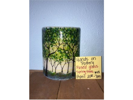 Fused Glass Spring Trees - April 21st