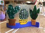 Fused Glass - Wavy Cactus - 07.27.17