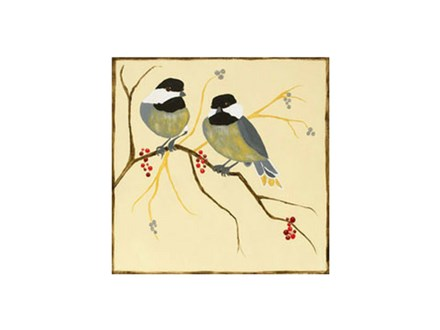 Chickadees and Berries - Canvas Class @ 5/19 @6:30