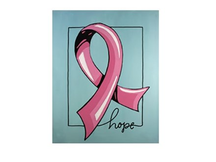 Ribbon of Hope - Canvas - Paint and Sip