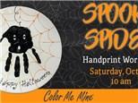 Spooky Spider Handprint Plate