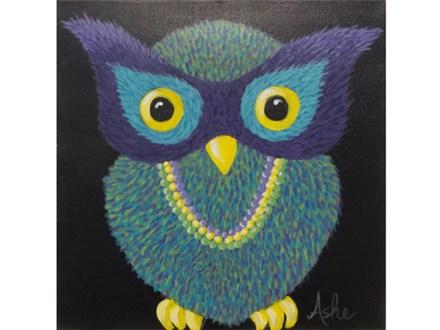 Mardi Gras Owl