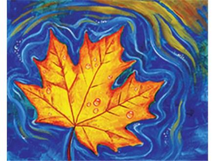 Canvas - Floating Maple Leaf - 11.27.18 - Morning Session