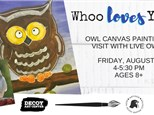 Owl Canvas with the Raptor Center