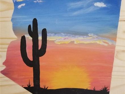 Board Art Class: Arizona Sunset - July 14, 2017