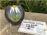 You Had Me at Merlot - Fused Glass Horseshoe Daisy - Aug 22nd