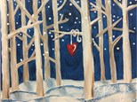 Winter Forest Canvas Paint and Sip Event