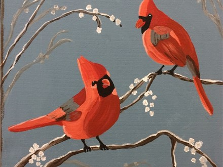 Cardinal Canvas Paint and Sip Event