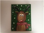 Red Nosed Reindeer (Kids ages 6+) Canvas Class