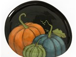 Pumpkin Pottery Plate Virtual or IN Studio Class! - October 14th