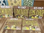 Summer Camp Lemonade Wood Board Monday, July 5th 10AM-12PM