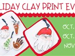 10/24 HOLIDAY CLAY PRINT EVENT @ THE POTTERY PATCH