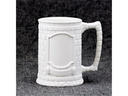 Crested Stein - Ready to Paint - Like the one you will receive