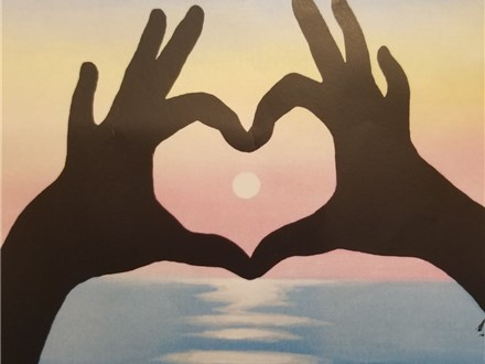 Paint Your Own Canvas Pack Junior - Sunset Love