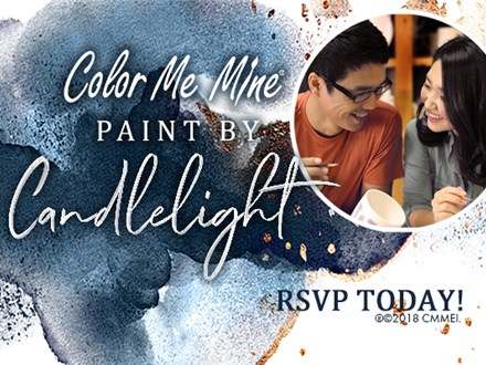 Paint by Candlelight at Color Me Mine