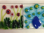 These beautiful glass fusing projects are examples of what can be done for refrigerator art!