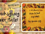 Kid's Night Out: Thanksgiving Dinner Plate!