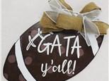 """""""GATA Y'all"""" Wooden Door Hanger Class, September 15th"""