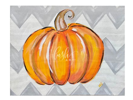 Chevron Pumpkin Paint Class - WR