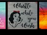 Disney Wood Sign Art (Adults) - October 20th