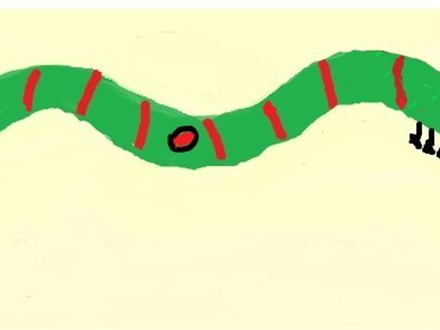 """""""Tug-of-War Caterpillar©,"""" one of our virtual fun math lessons!"""