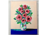 Adult Canvas Painting Flowers - 08/07