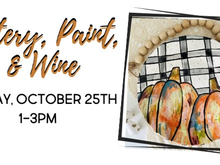 Pottery, Paint, & Wine...So Plaid It's Fall!