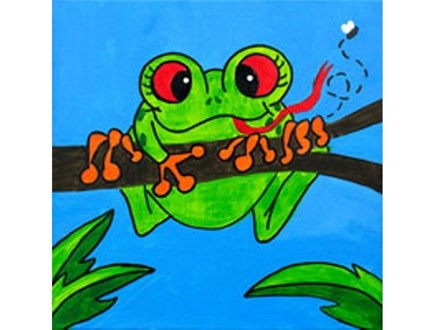 Summer Kids' Canvas Class! Feeling Froggy! 6/11/18