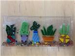 Fused Glass Cactus Dish