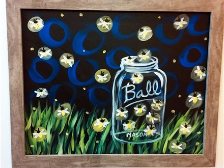 Fireflies Canvas Painting Class