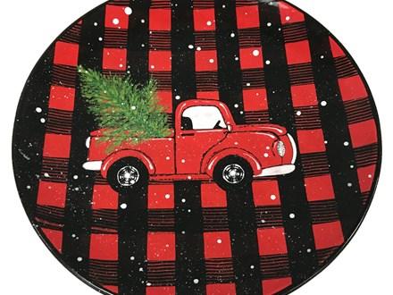 Christmas Truck & Tree Plate - Fundraiser for Cancer - September 12th