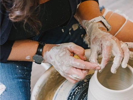 Adult Beginner Pottery Wheel - 6 week - Sundays 3pm - 5pm