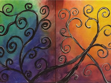 Swirls in Time - Date Night Paint and Sip Event