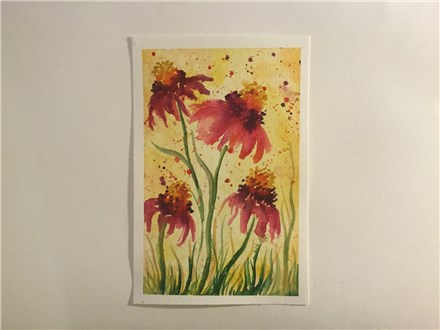Sunny Wild Flowers (ages 13+) Watercolor Class