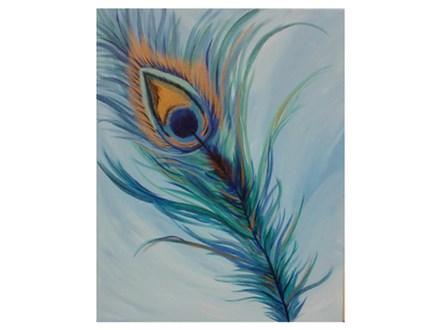 Peacock Plume - Paint & Sip - August 12