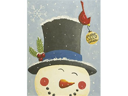 Spreading Cheer Snowman Canvas Class