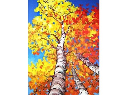 Fall Birch Canvas and Cocktails