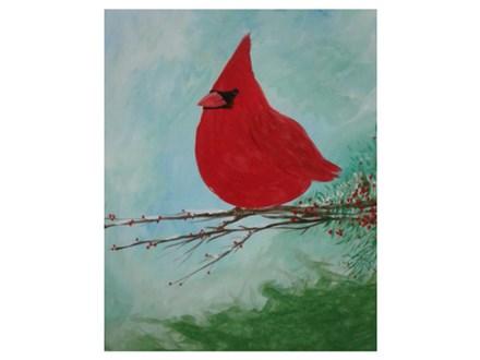 Cardinal in Winter - Paint & Sip - Jan 13