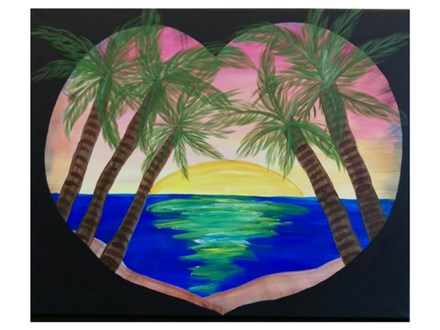 Sunset in Paradise - Paint & Sip - August 4