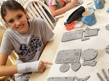Ceramic, Clay & Crafts Summer Camp (8/03-8/07 Single Day)