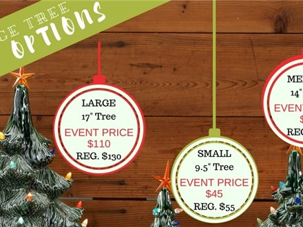 11/2 Vintage Christmas Tree Event @ The Pottery Patch