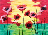 Canvas & Wine Night! - Poppies in Bloom!  2/23/17