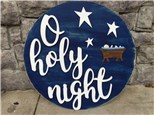 Nov. 30th O holy night door hanger class