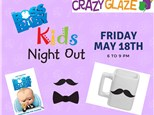 Ticket for Crazy Glaze Studio's Kids Night Out May 18th