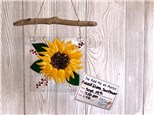 You Had Me at Merlot - Fused Glass Sunflower - Sept 19th