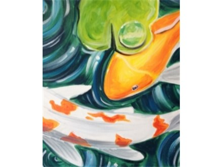 "Canvas Night, ""Koi Pond"" March 5th 7-10pm"