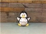 Custom Name Carved Penguin