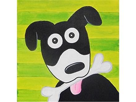 Summer Kids' Canvas Class! Give A Dog A Bone! 8/2/19